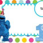 Free Sesame Street 1St Birthday Invitation   Free Printable   Free Printable Cookie Monster Birthday Invitations