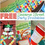 Free Sesame Street Birthday Party Printables, Free Elmo Birthday   Free Printable Sesame Street Food Labels