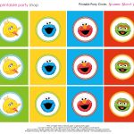 Free Sesame Street Printables | Party Circles Characters Colorblocks   Free Printable Sesame Street Food Labels