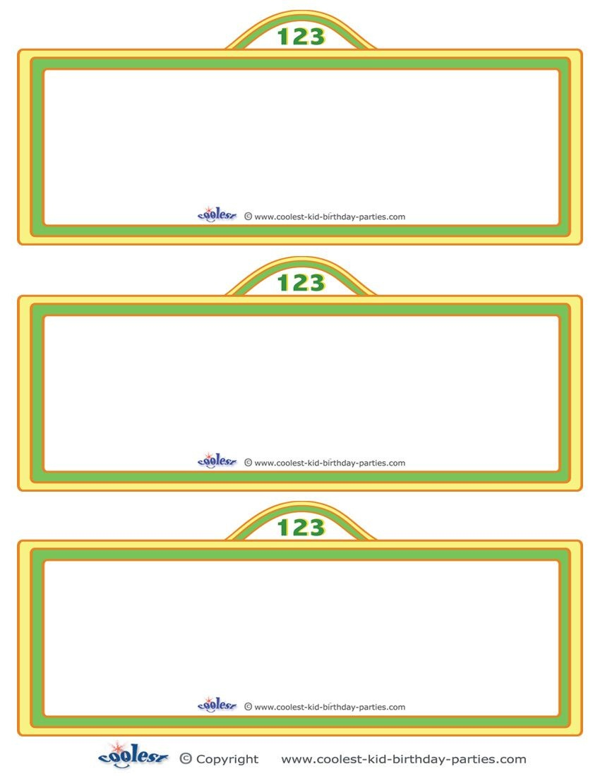 Free Sesame Street Templates |  Printable Sesame Street Sign - Free Printable Sesame Street Food Labels