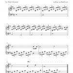 Free Sheet Music Scores: Free Easy Piano Sheet Music, Moonlight - Free Printable Classical Sheet Music For Piano