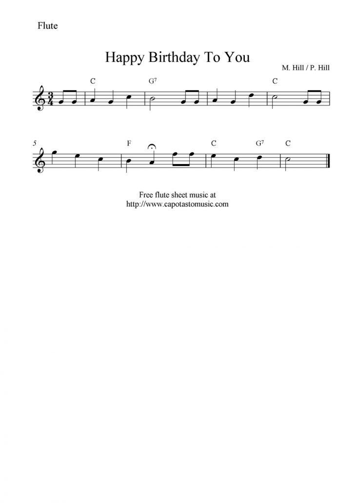 Free Printable Flute Sheet Music