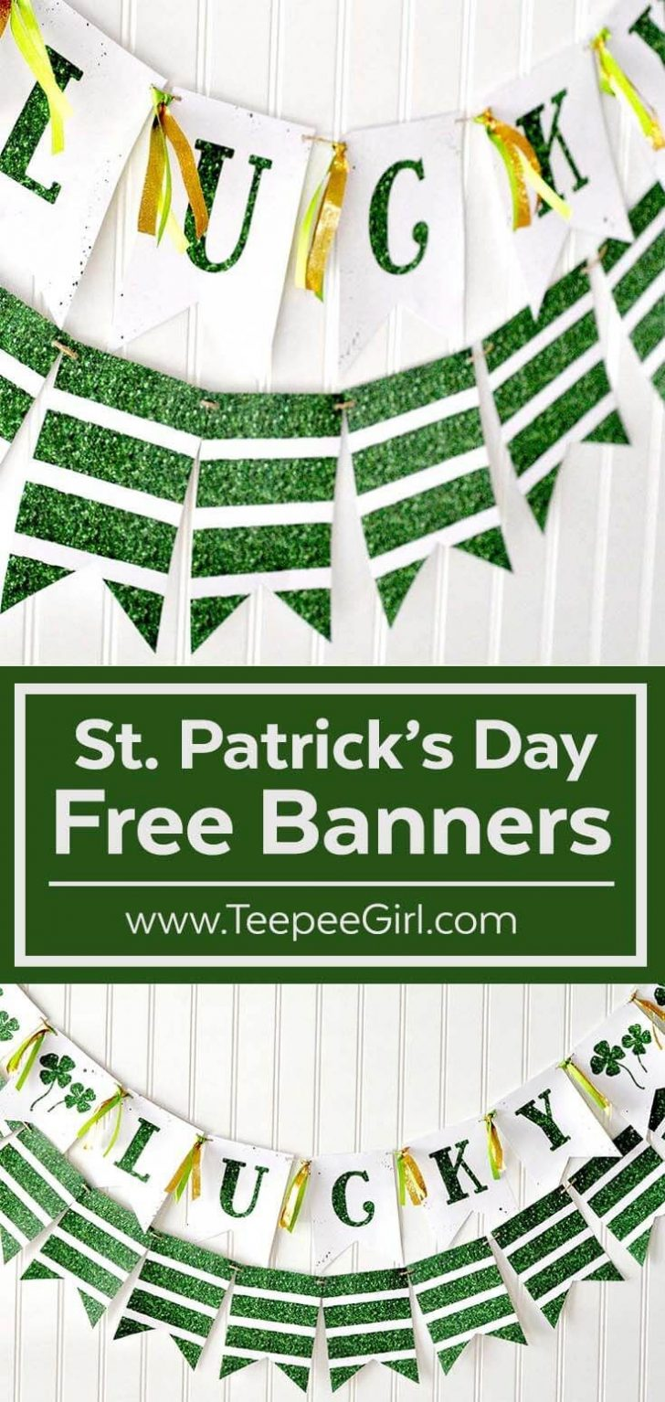 Free Printable St Patrick's Day Banner