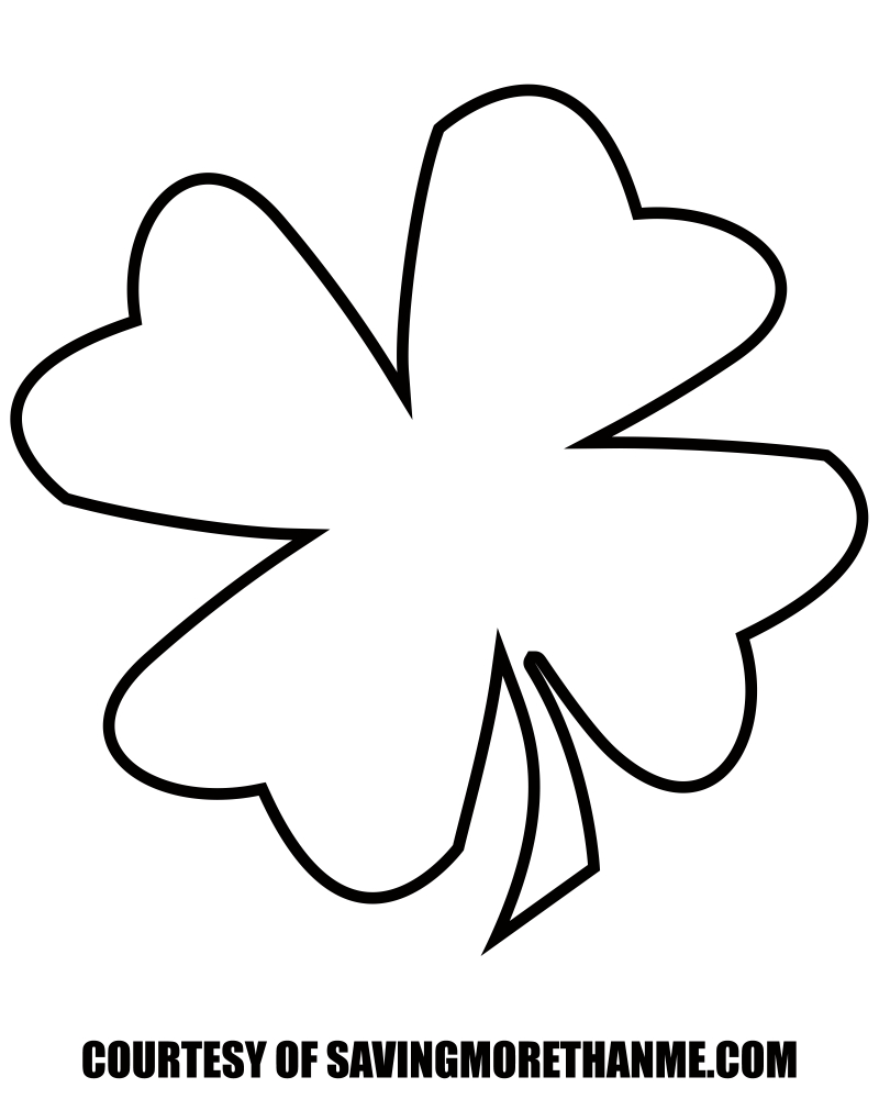 Free St. Patrick's Day Printables: Four Leaf Clover Template, Irish - Four Leaf Clover Template Printable Free