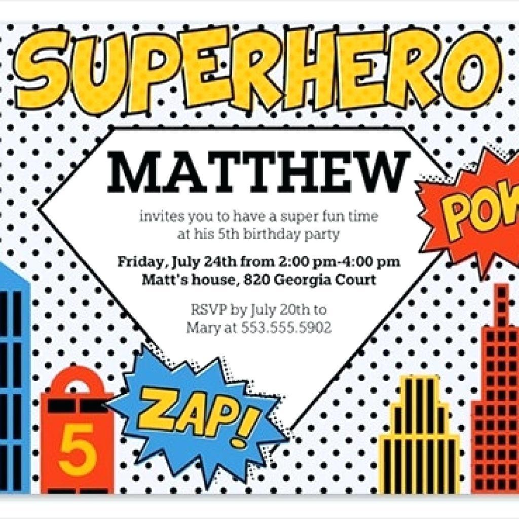 Free Superhero Birthday Invitations Templates - Free Printable Superhero Certificates