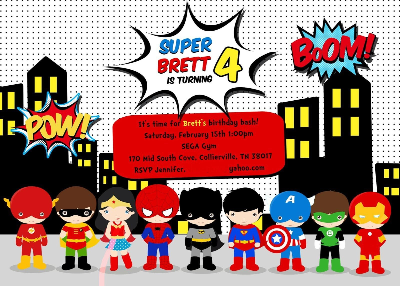 Free Superhero Birthday Party Invitation Templates | Birthday Party - Free Printable Superman Invitations