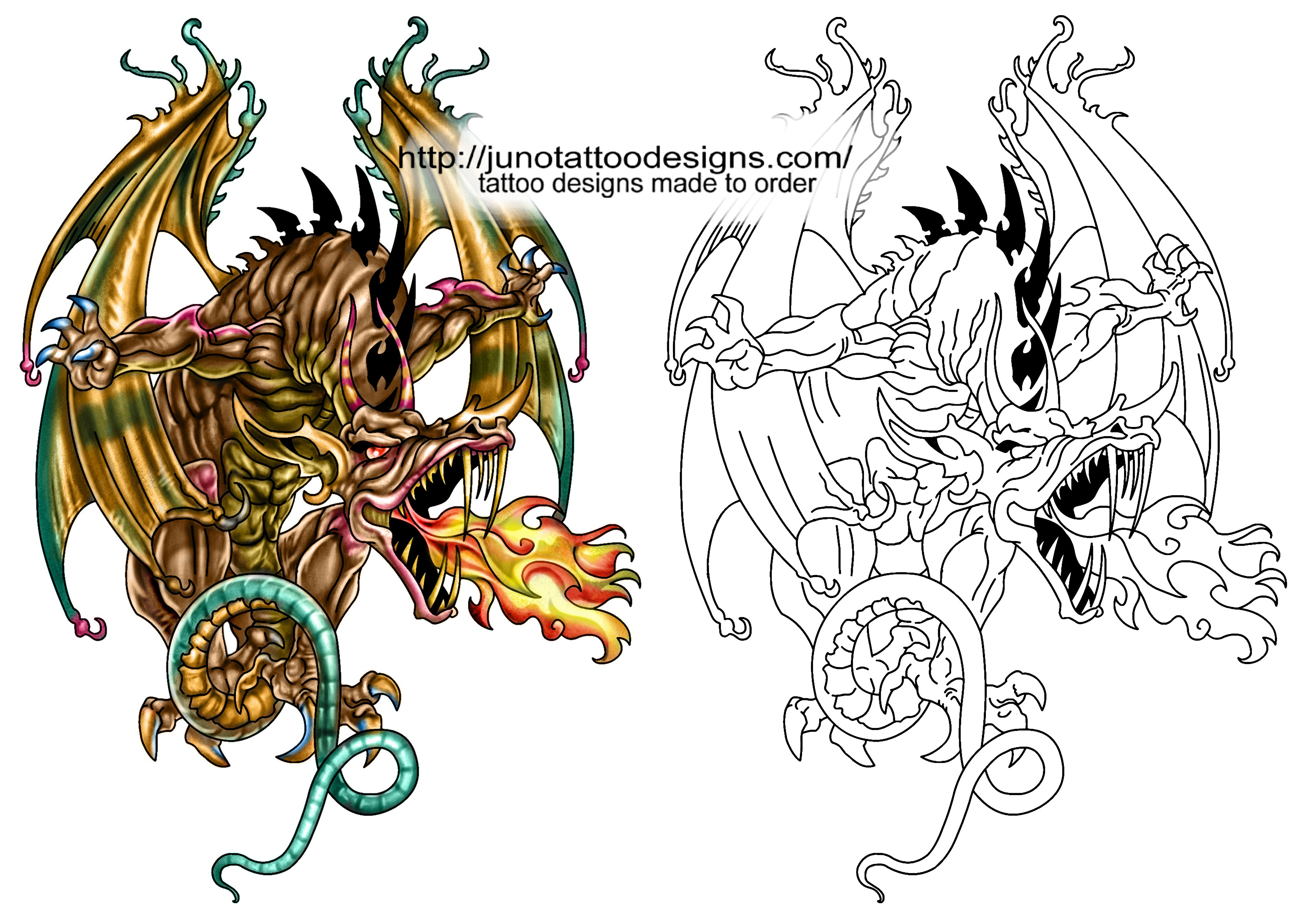 Free Tattoo Stencil Designs, Download Free Clip Art, Free Clip Art - Free Printable Dragon Stencils