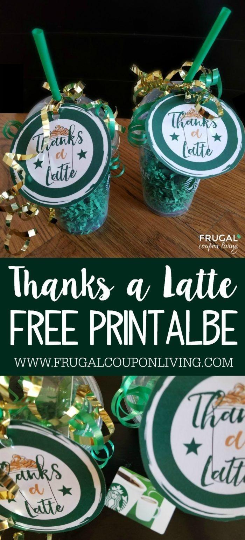 Free Thanks A Latte Printable | Crafty Fun | Teacher Gifts, Thanks A - Thanks A Latte Free Printable Gift Tag