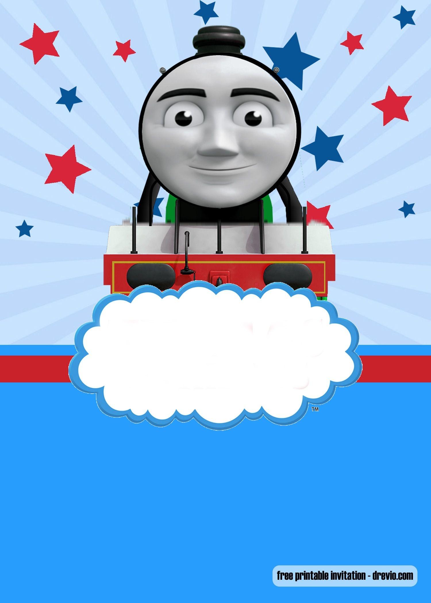 Free Thomas The Train Invitation Templates | Bagvania Invitation - Thomas Invitations Printable Free