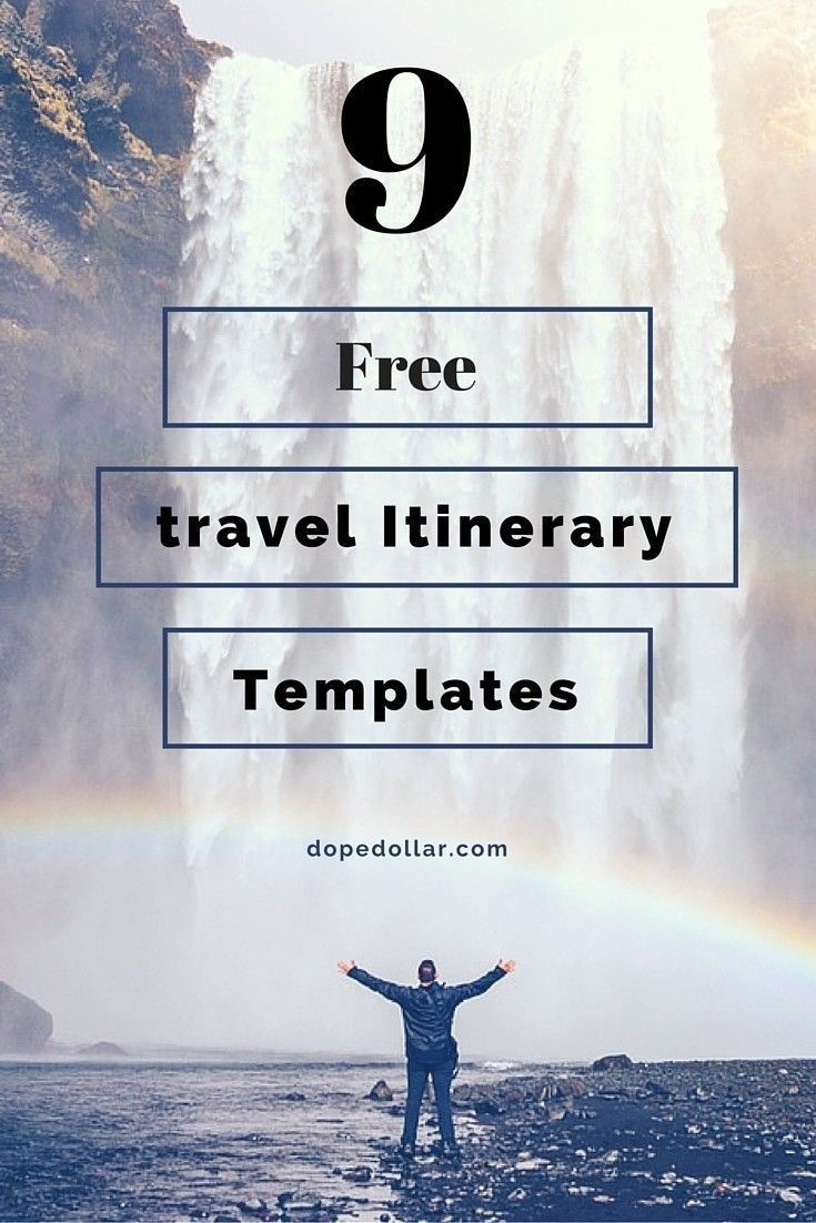 Free Travel Itinerary Templates For Travel, Flight & Vacations - Free Printable Itinerary