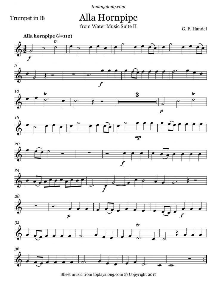 Free Printable Sheet Music For Trumpet