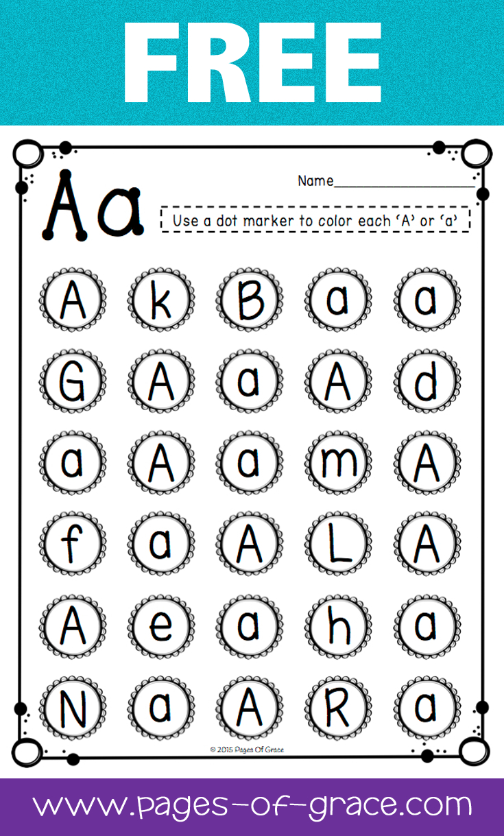 Free Uppercase & Lowercase Letter Recognition Packet | Dot Bingo - Free Printable Letter Recognition Worksheets