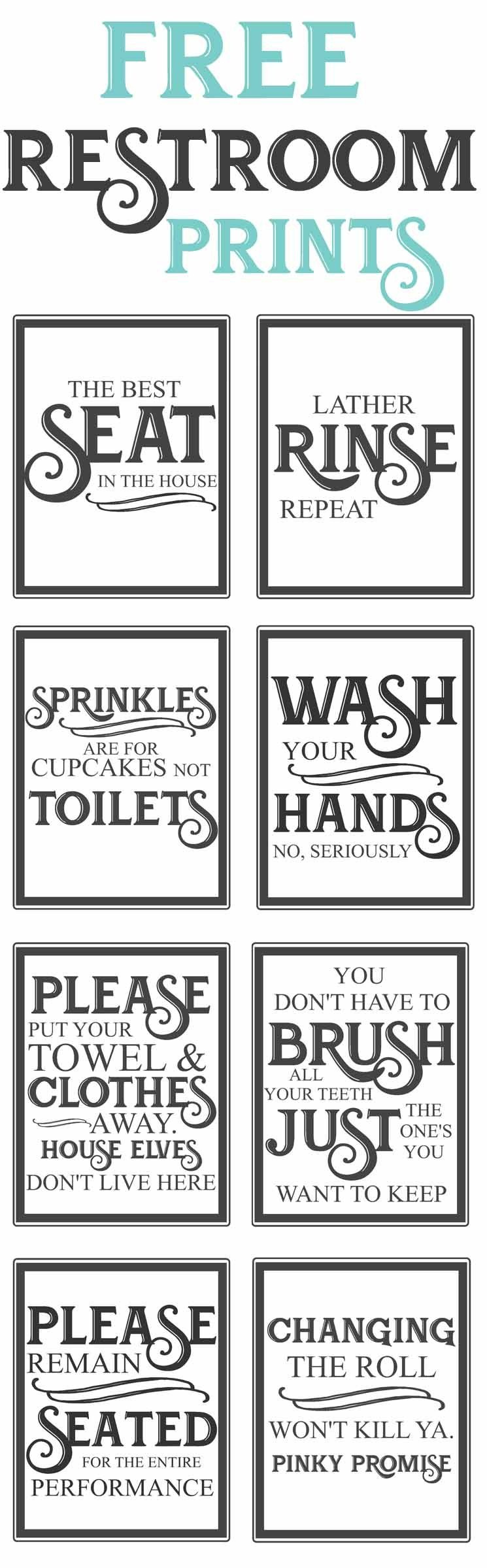 Free Vintage Bathroom Printables | Diy | Vintage Bathrooms, Diy Home - Free Printable Bathroom Signs