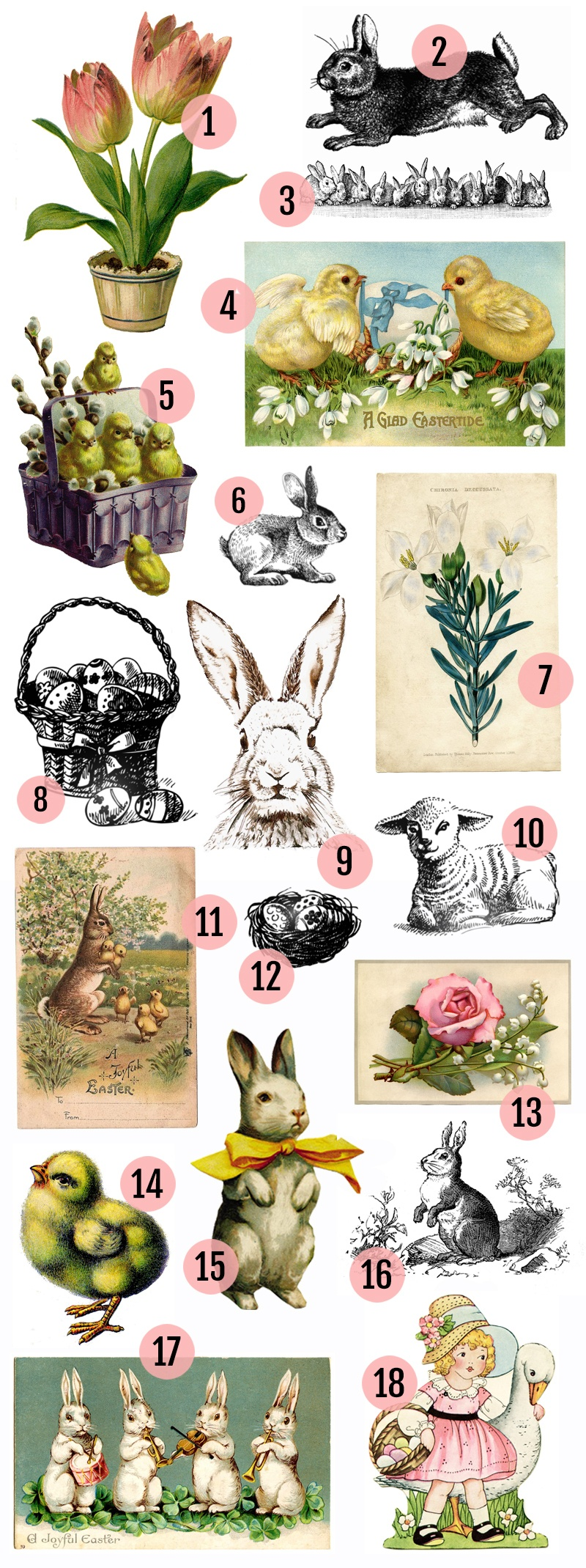 Free Vintage Easter Clipart Images » Maggie Holmes Design - Free Printable Vintage Easter Images