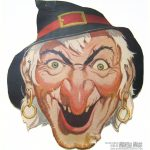 Free Vintage Witch Cut Out Printable Mask #free #printable – Free Printable Halloween Face Masks