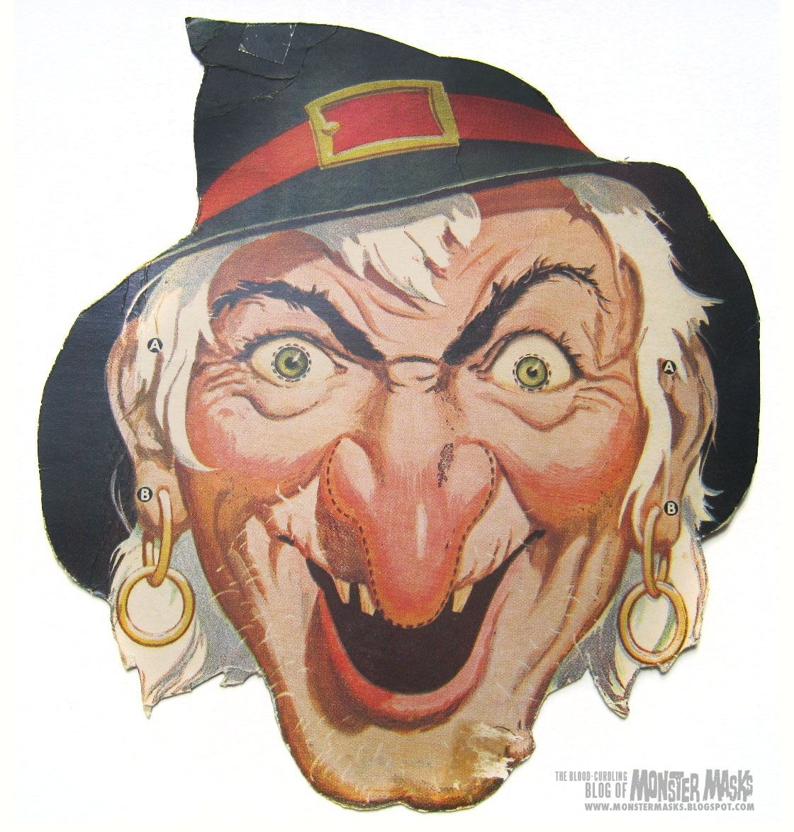 Free Vintage Witch Cut Out Printable Mask #free #printable - Free Printable Halloween Face Masks