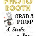 Free Wedding Photo Booth Sign • Scrappy Geek – Free Printable Photo Booth Sign