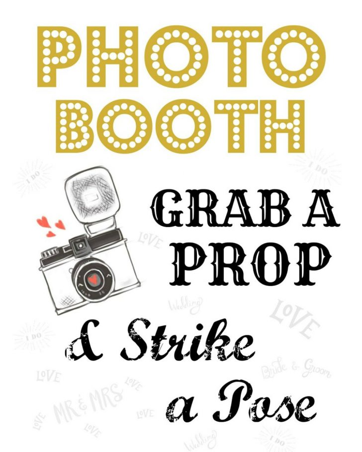 Free Printable Photo Booth Sign