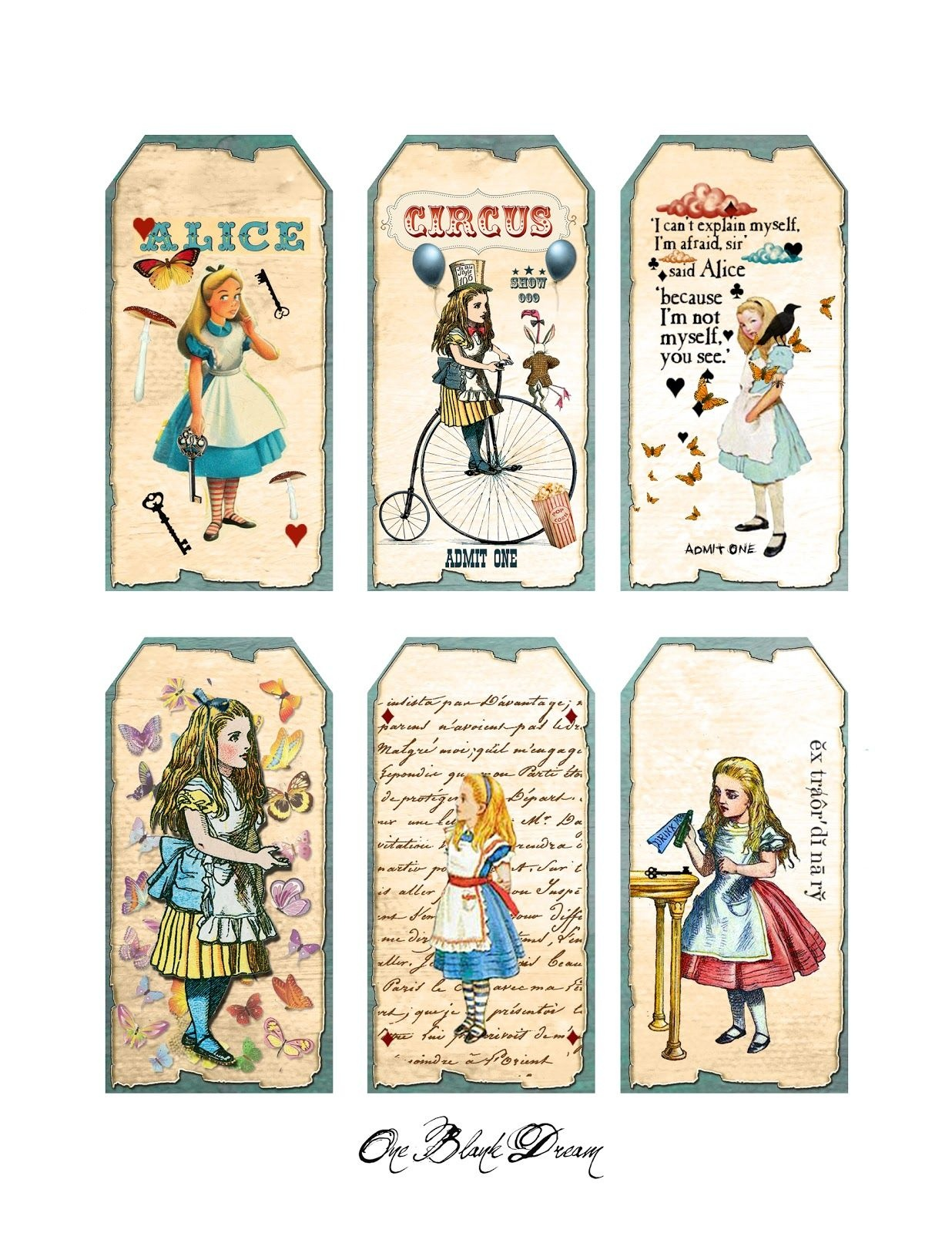 graphic about Alice in Wonderland Printable identified as Alice Within just Wonderland Signs or symptoms Cost-free Printable No cost Printable