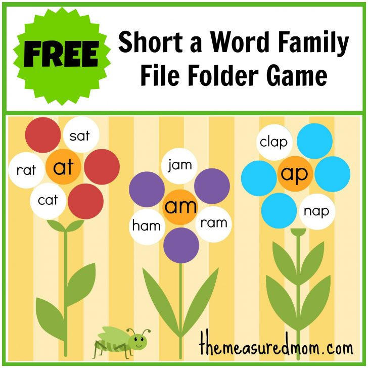 Free Printable Fall File Folder Games
