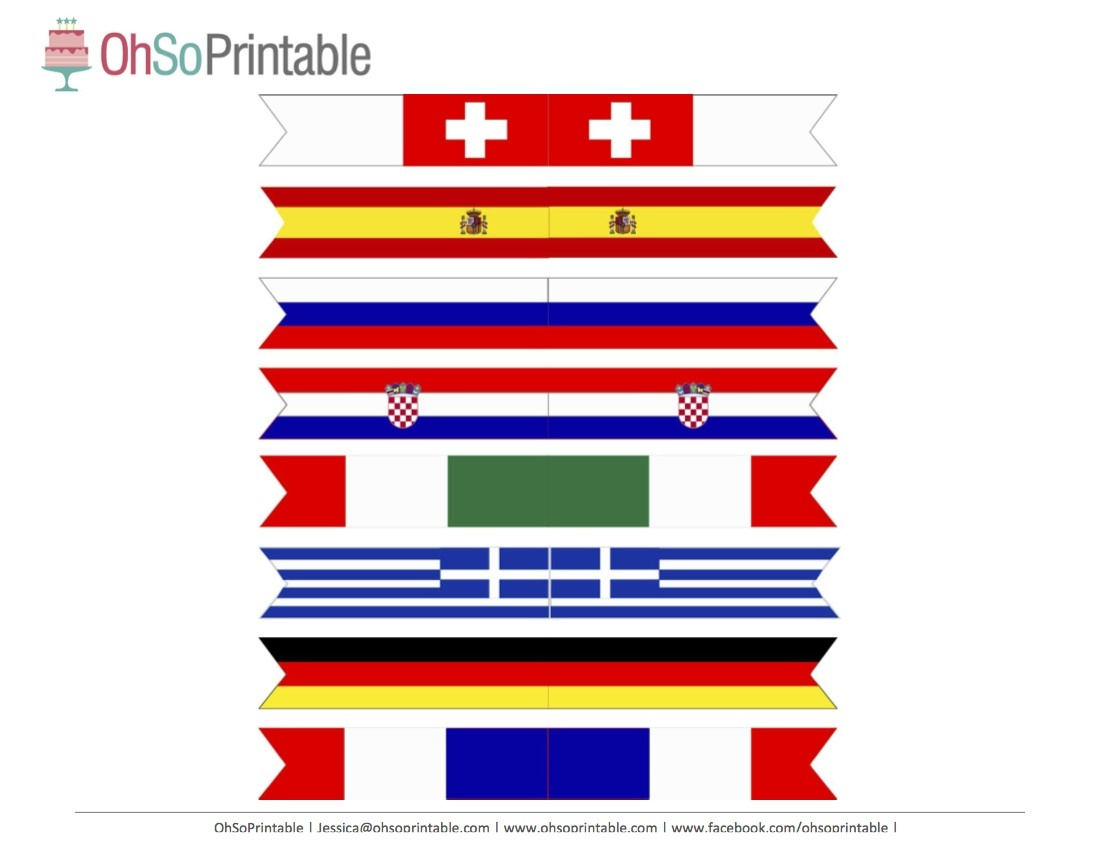 Free World Cup Soccer Printables From Ohsoprintable | Catch My Party - Free Printable Flags From Around The World