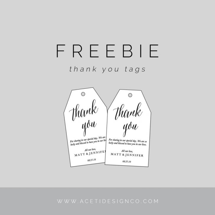 Thank You For Coming Free Printable Tags