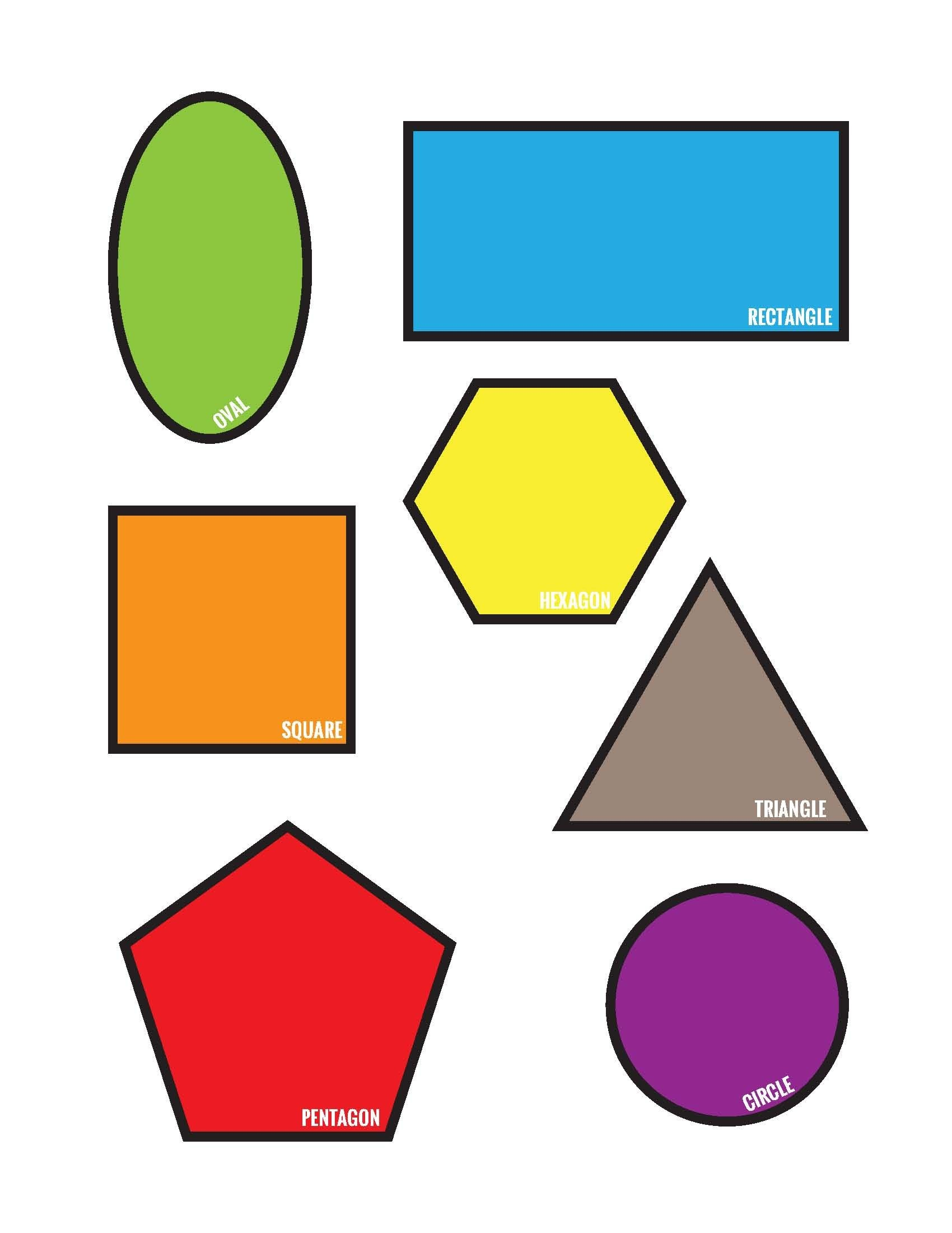 Freebies: Colorful Shapes Matching File Folder Printable Game (Free - Free Printable File Folder Games For Preschool