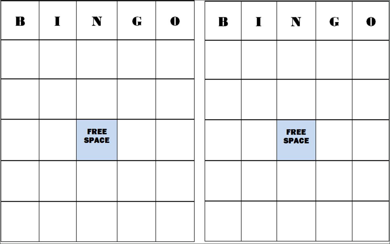 Free+Blank+Bingo+Card+Template | Classroom Stuff | Blank Bingo Cards - Free Printable Blank Bingo Cards
