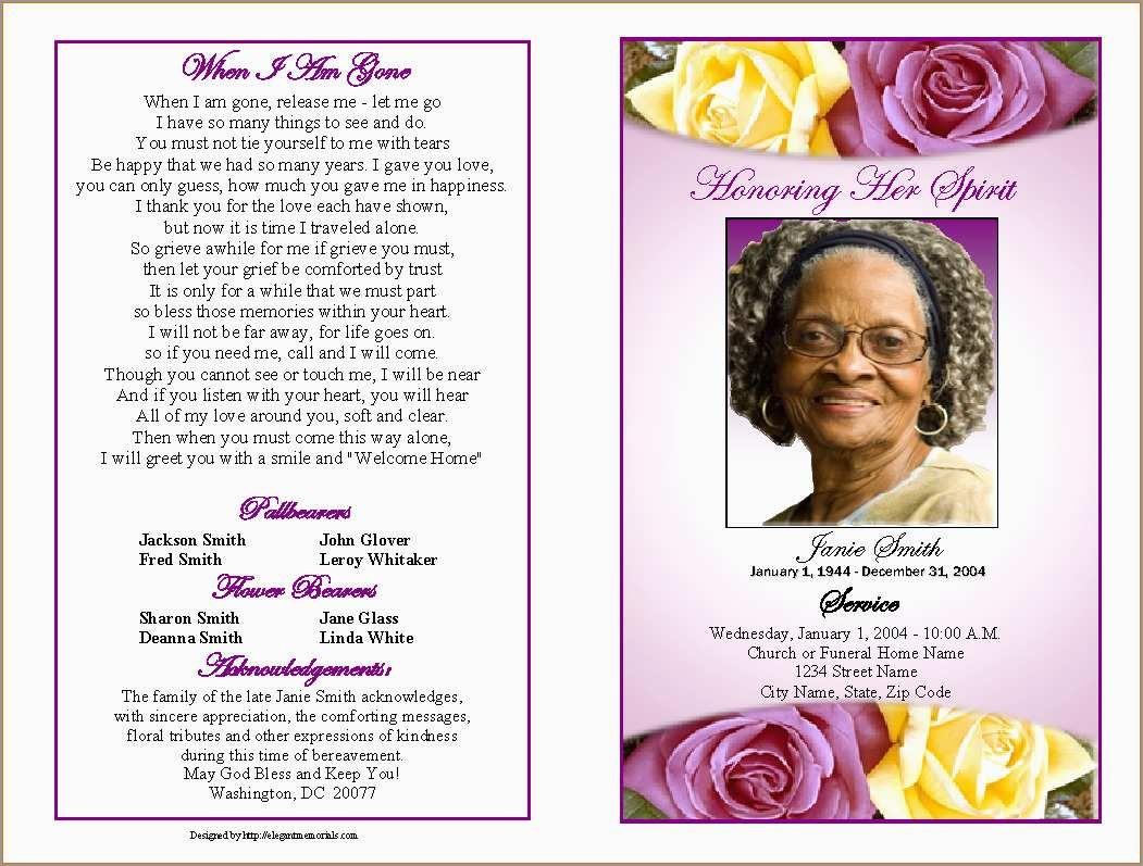 Fresh Free Funeral Service Program Template Word | Best Of Template - Free Printable Funeral Program Template