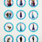Frozen: Free Printable Toppers.   Oh My Fiesta! In English   Frozen Cupcake Toppers Free Printable