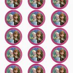 Frozen: Free Printable Toppers.   Oh My Fiesta! In English   Frozen   Frozen Cupcake Toppers Free Printable