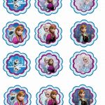 Frozen: Free Printable Toppers.   Recipes To Cook   Frozen Cupcakes   Frozen Cupcake Toppers Free Printable