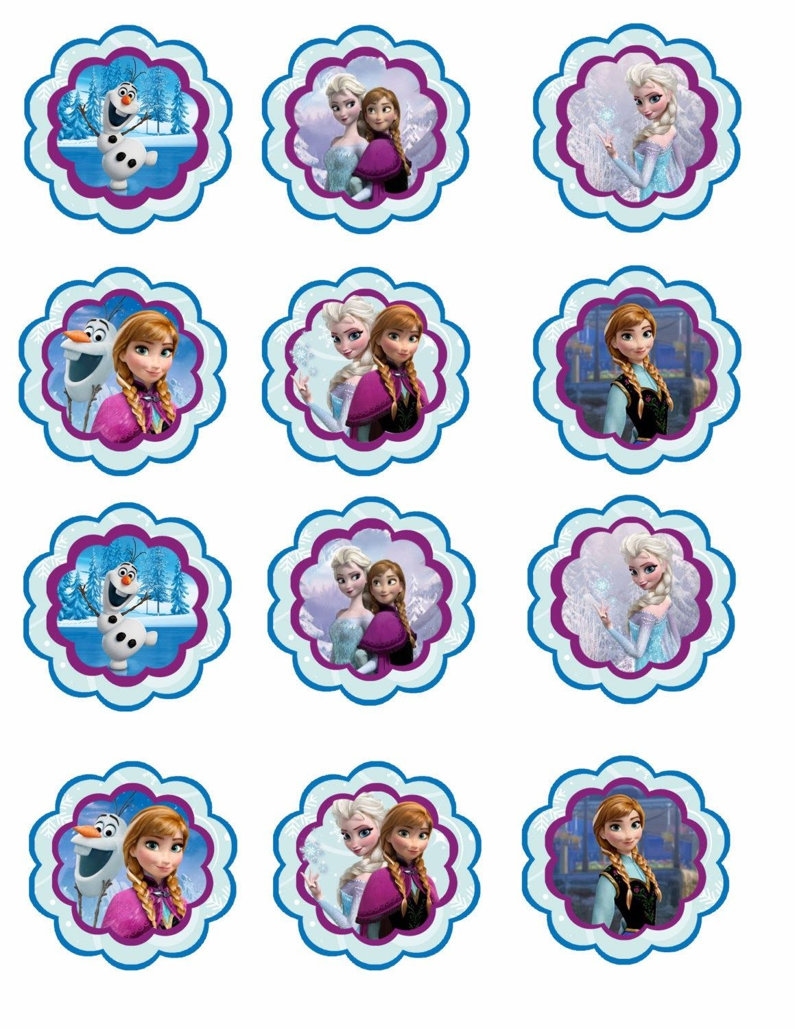 Frozen: Free Printable Toppers. | Recipes To Cook | Frozen Cupcakes - Frozen Cupcake Toppers Free Printable