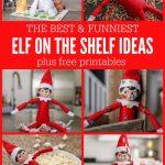 Funny Elf On The Shelf Ideas + Free Printables | Lil' Luna   Elf On The Shelf Free Printable Ideas