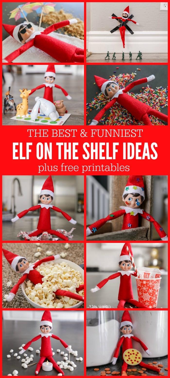 Funny Elf On The Shelf Ideas + Free Printables | Lil' Luna - Elf On The Shelf Free Printable Ideas