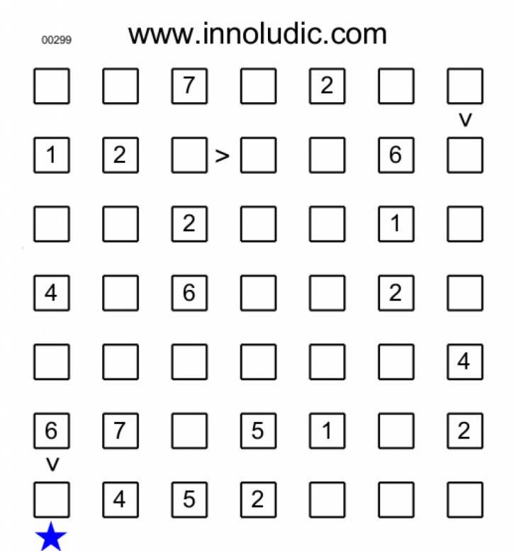 Free Printable Futoshiki Puzzles