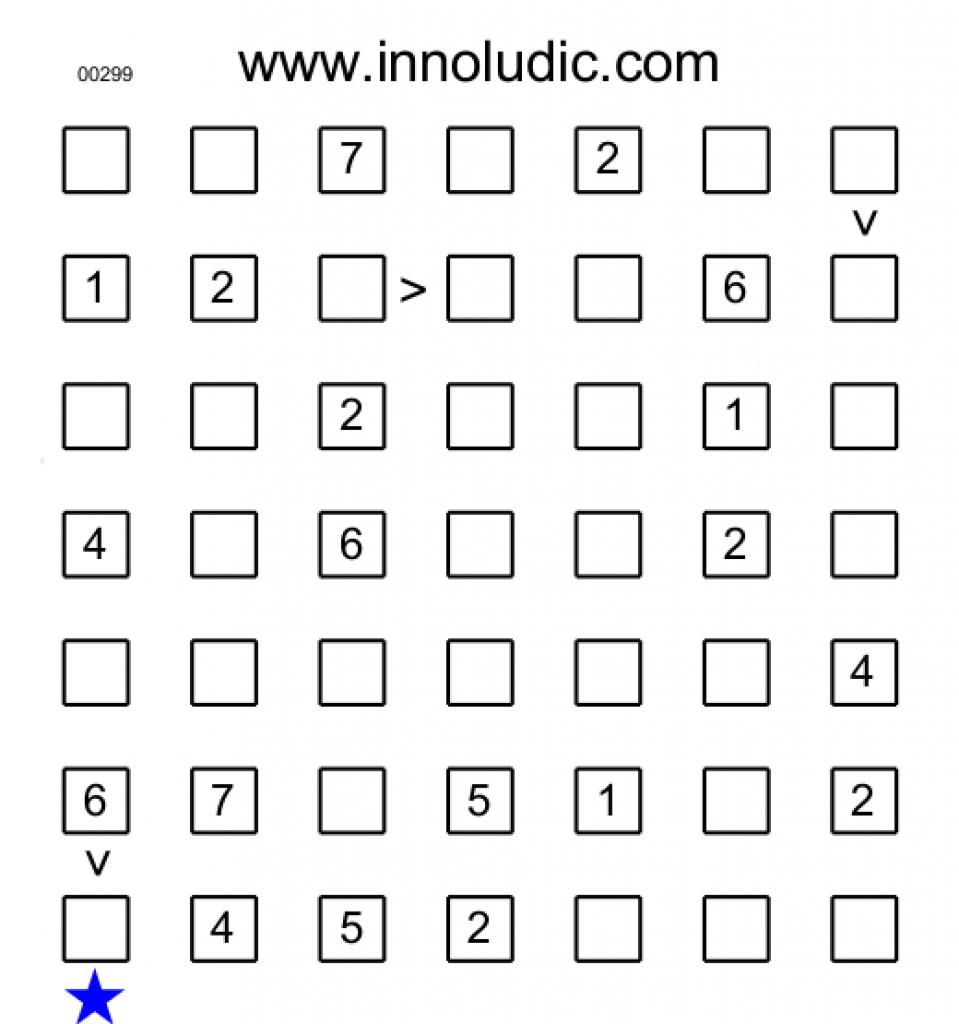 Futoshiki For Free Printable Futoshiki Puzzles   Free Printable - Free Printable Futoshiki Puzzles