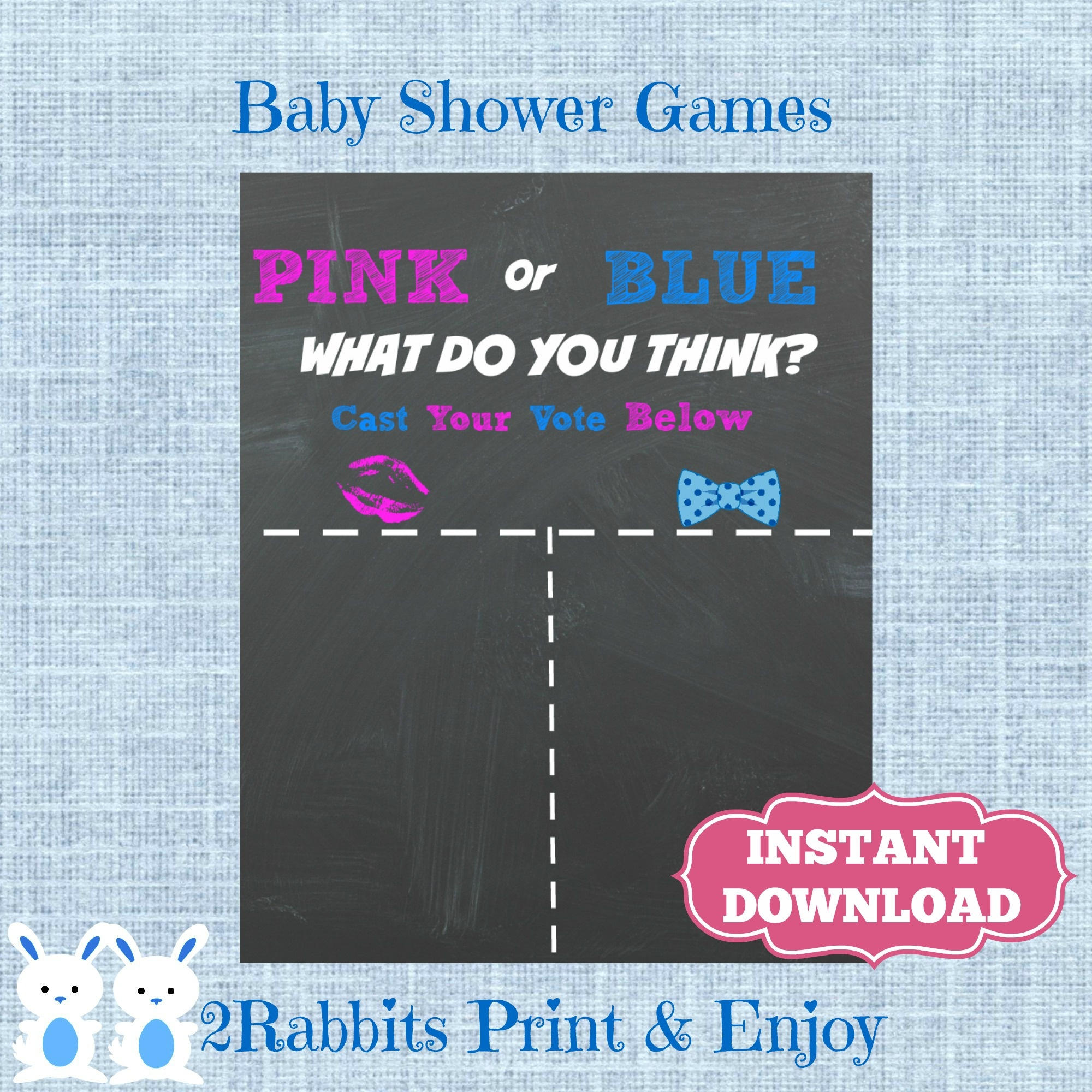 Gender Reveal Baby Shower Ideas - My Practical Baby Shower Guide - Free Printable Gender Reveal Templates