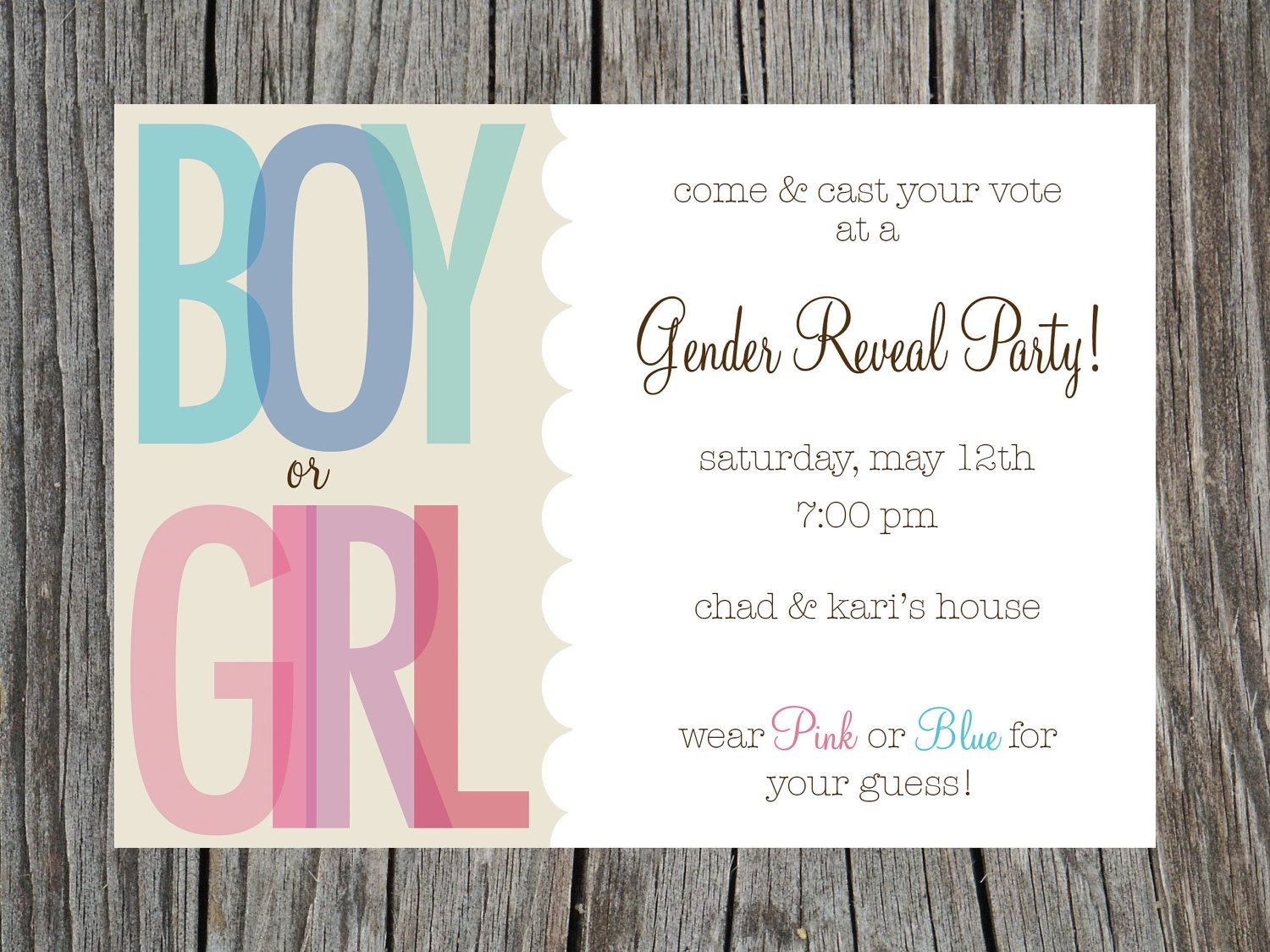 Gender Reveal Party Invitations Free Templates | Invitstiondown - Free Printable Gender Reveal Templates