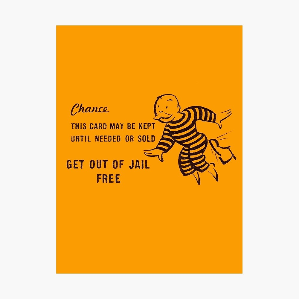 "Get Out Of Jail Free"" Photographic Printdiabolical 