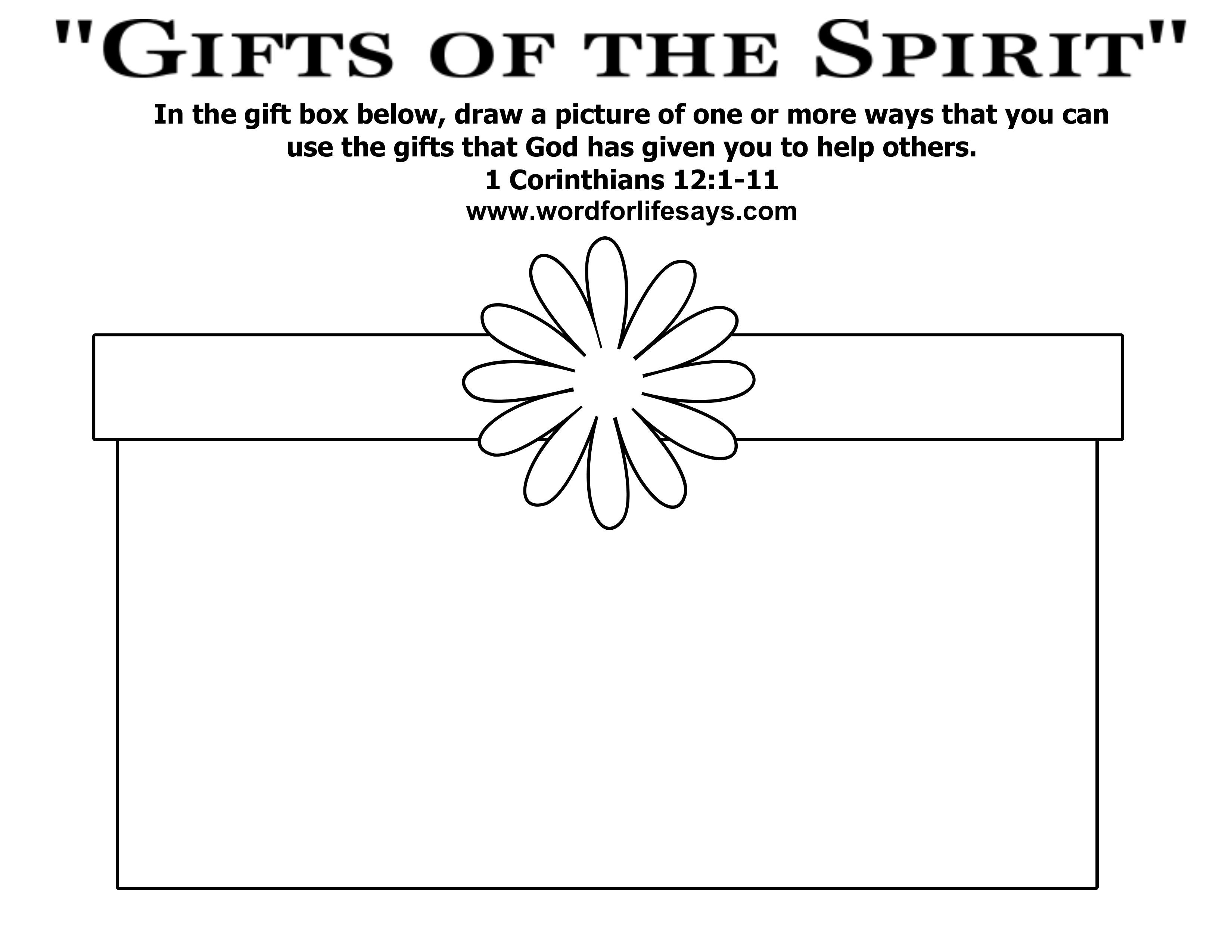 Gifts From God Coloring Page - Google Search | Coloring Pages - Free Printable Spiritual Gifts Test For Youth