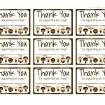 Girl Scouts: Brownies Free Printable Thank You Cards | Girl Scouts   Free Printable Eagle Scout Thank You Cards
