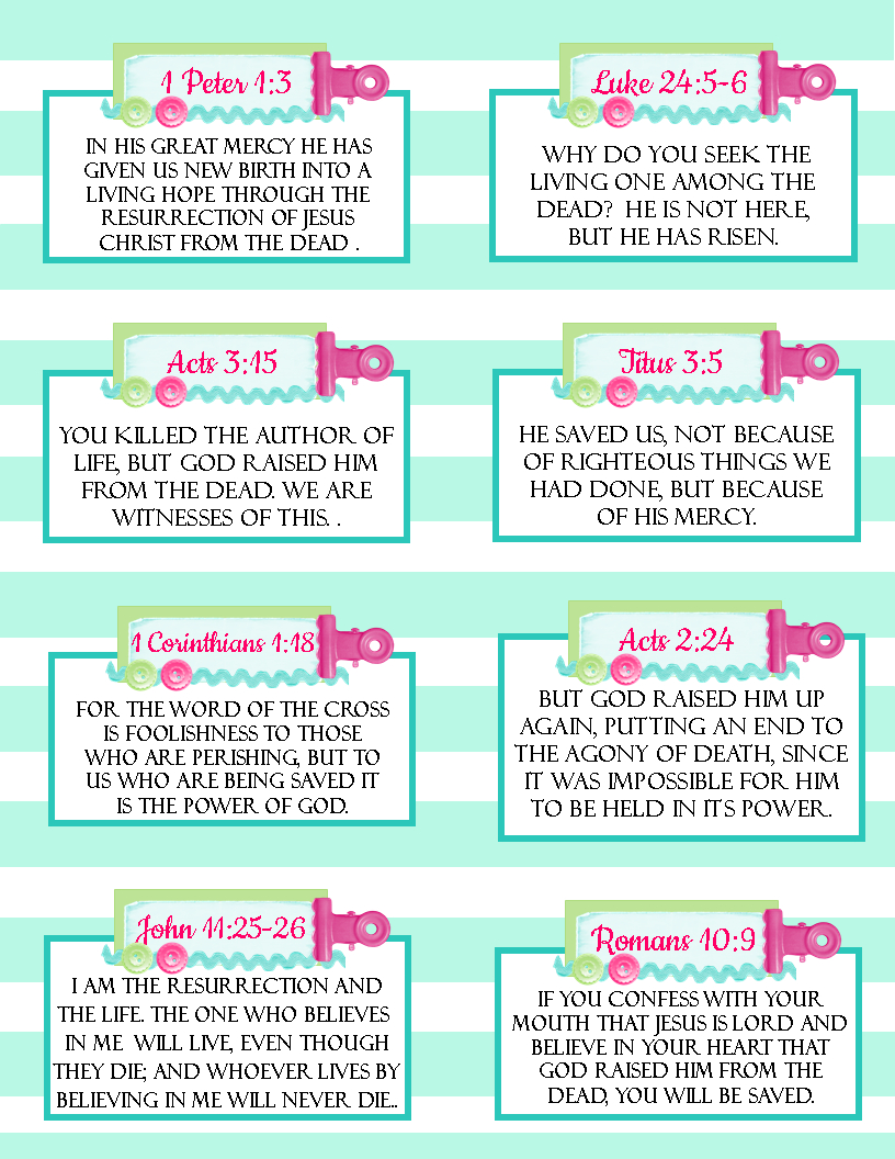 Give Them Something Special With A Personalized Easter Basket - Free Printable Religious Easter Bookmarks