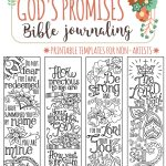 God's Promises   Bible Journaling Printable Templates, Illustrated   Free Printable Religious Easter Bookmarks