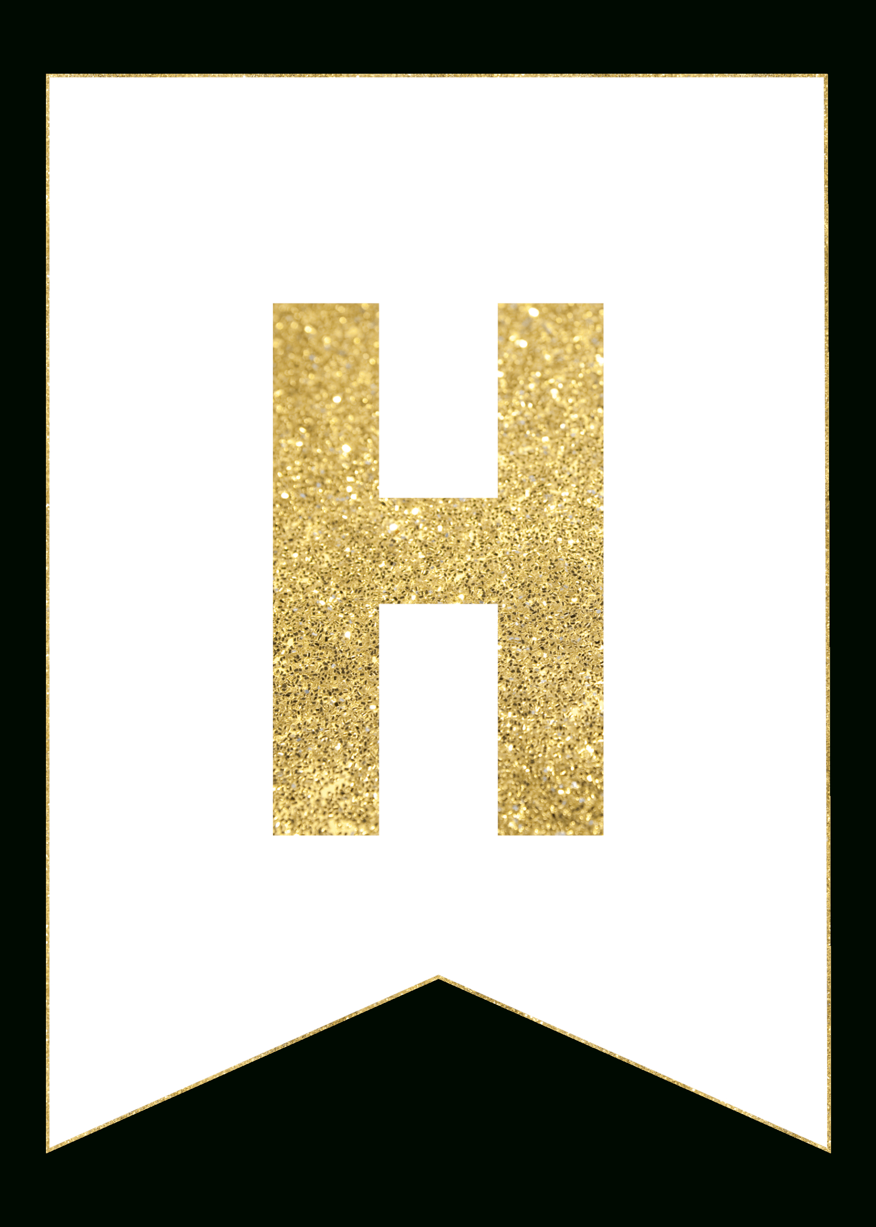 Gold Free Printable Banner Letters | Printables | Free Printable - Free Happy Birthday Printable Letters