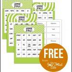 Grammar Bingo   Free Printable   Must Follow Faith & Family Bloggers   Free Printable Parts Of Speech Bingo