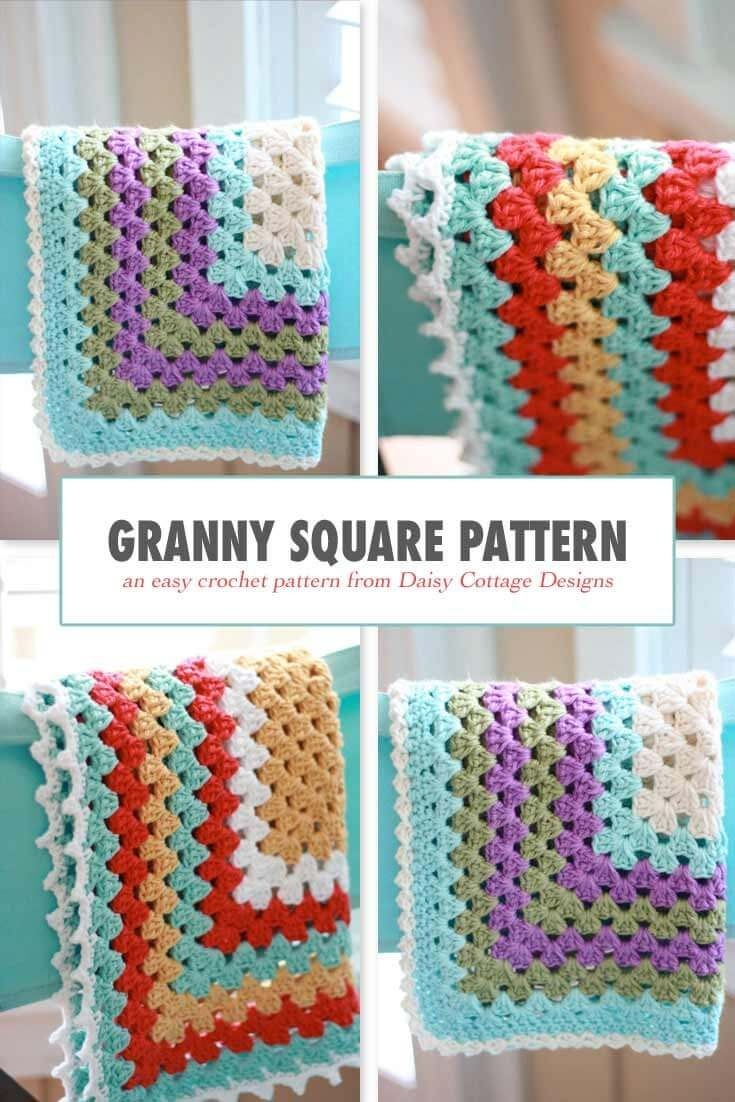 Granny Square Pattern - A Free Crochet Pattern | Crochet Patterns - Free Printable Crochet Granny Square Patterns