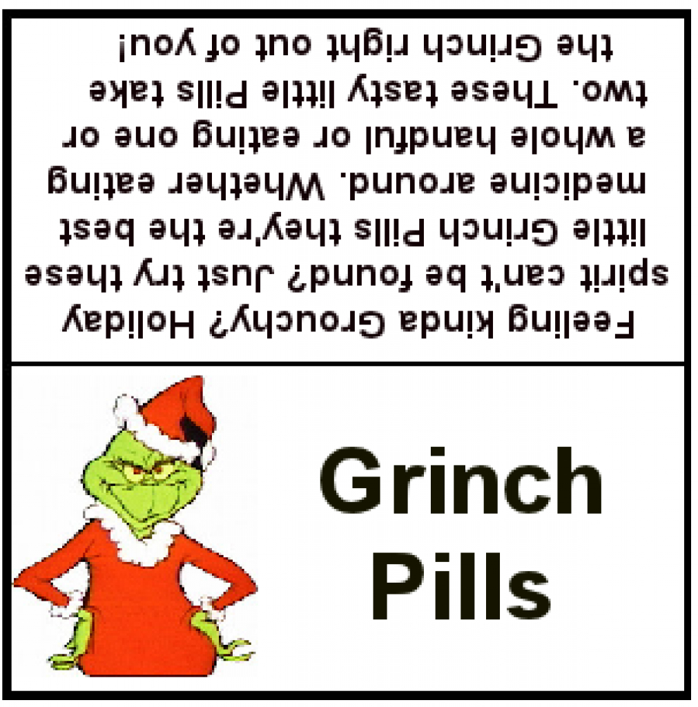 Grinch Pills Printable (83+ Images In Collection) Page 1 - Grinch Pills Free Printable