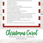 Guess The Christmas Carol Game   Lil' Luna   Free Printable Christmas Song Picture Game