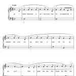 Hallelujahleonard Cohen Beginner Piano Digital Sheet Music   Free Printable Piano Sheet Music For Hallelujah By Leonard Cohen